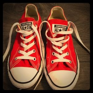 Red Converse, girls size 2!